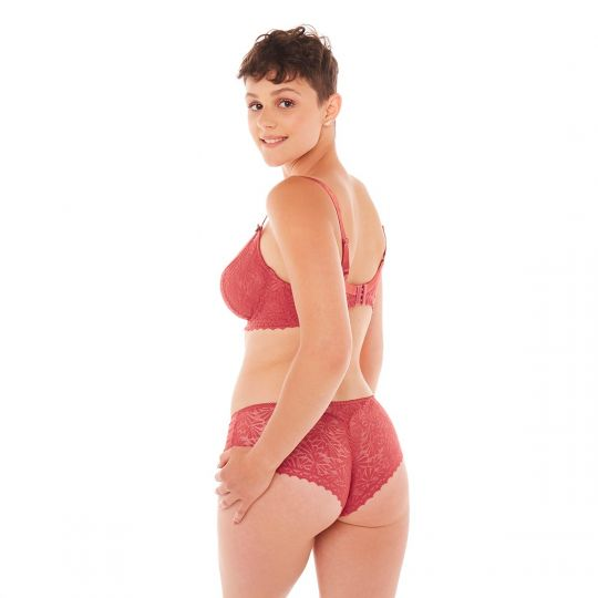 Soutien-gorge grand maintien orange Check-In - vue 3
