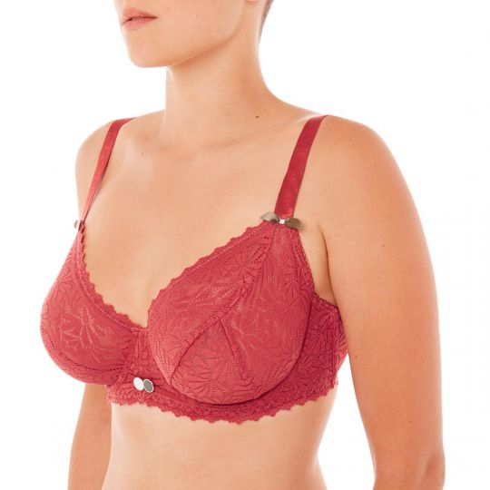 Soutien-gorge grand maintien orange Check-In - vue 1