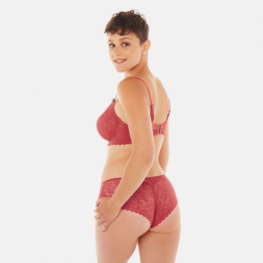 Soutien-gorge grand maintien orange Check-In - vue 5