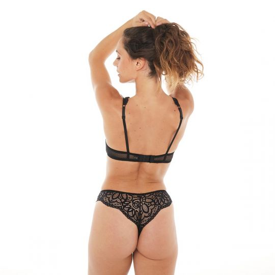 Trikini push-up noir Rivale - vue 2
