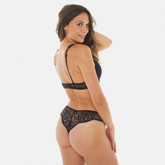 Trikini push-up noir Rivale - vue 5