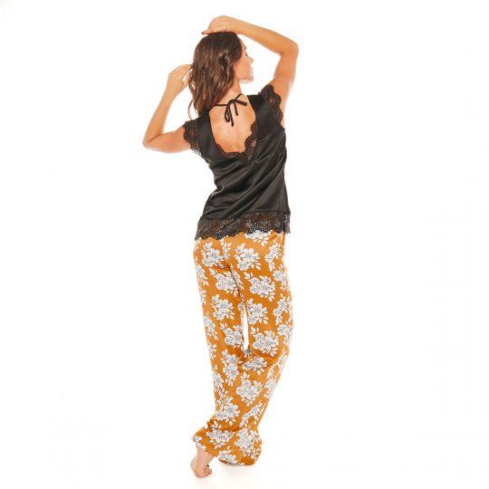 Pyjama noir Effrontée - vue 2