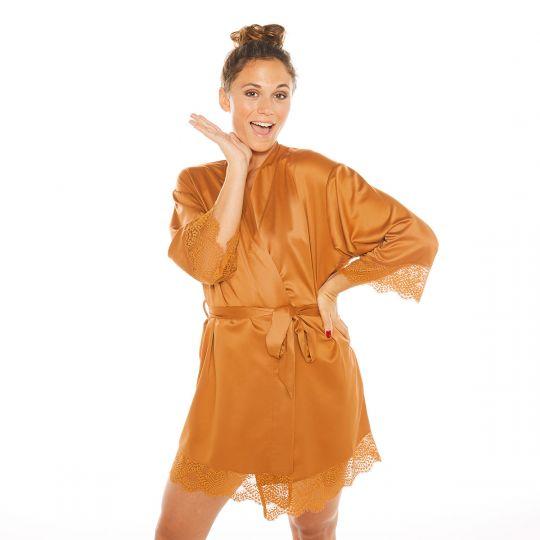 Kimono moutarde Effrontée - vue 1