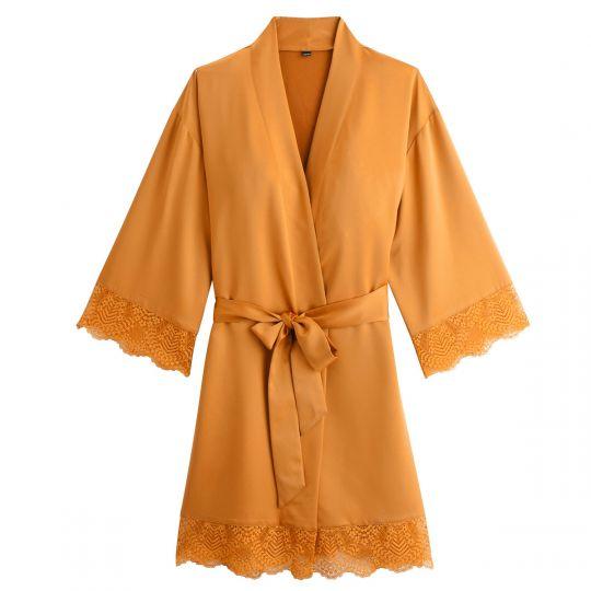 Kimono moutarde Effrontée - vue 0