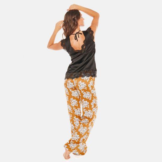 Pyjama noir Effrontée - vue 5