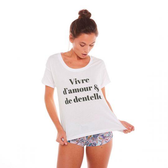 T-shirt VIVRE D'AMOUR - vue 3