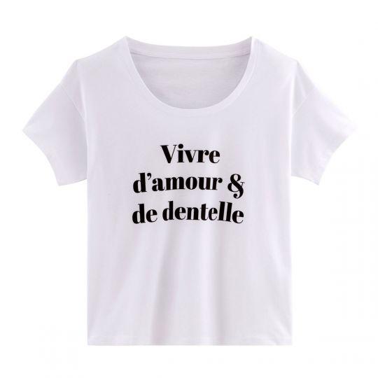 T-shirt VIVRE D'AMOUR - vue 0