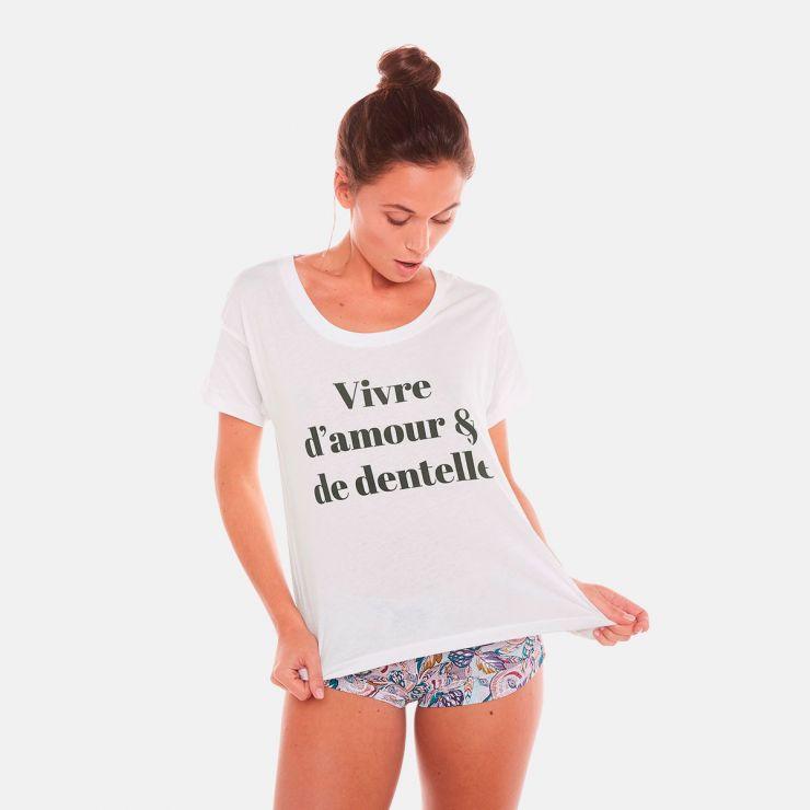T-shirt VIVRE D'AMOUR