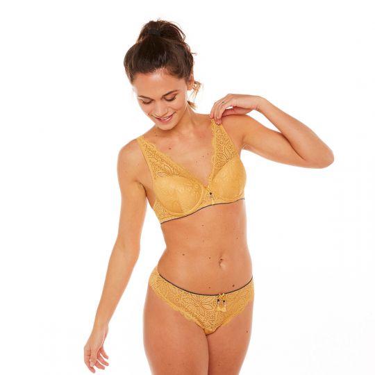 Soutien-gorge coques moulées jaune Zazie - vue 2