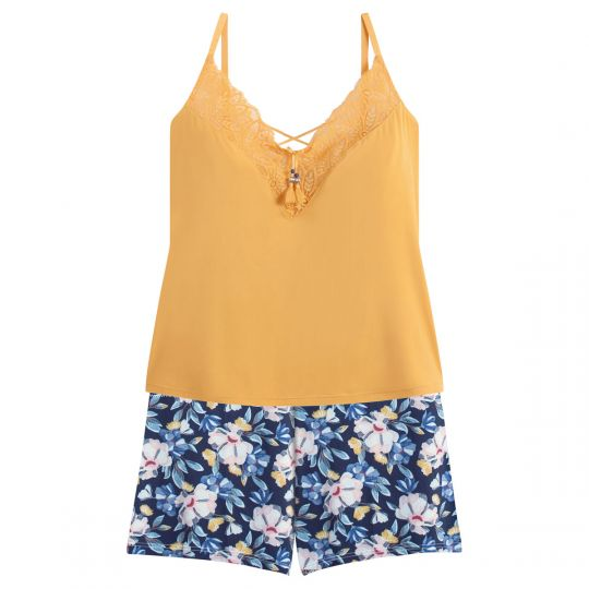 Top-short jaune Zazie - vue 0