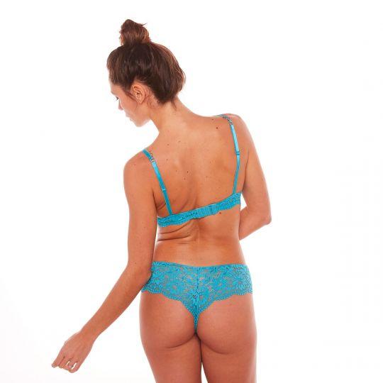 Soutien-gorge corbeille turquoise Eldorado - vue 3