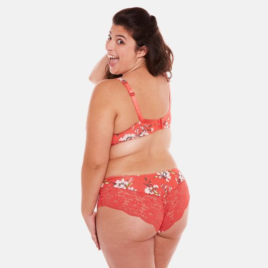 Soutien-gorge grand maintien orange Falbala - vue 5