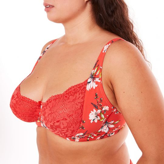 Soutien-gorge grand maintien orange Falbala - vue 1