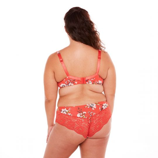 Soutien-gorge grand maintien orange Falbala - vue 3