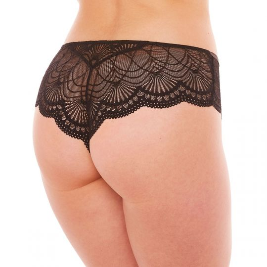 Shorty tanga noir Kiss Kiss - vue 2