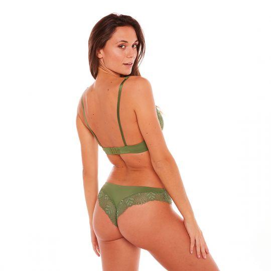 Soutien-gorge foulard vert Olive - vue 3