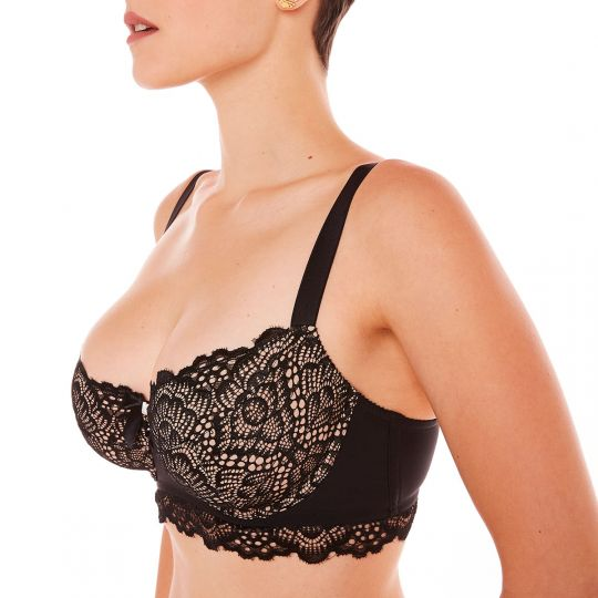 Soutien-gorge grand maintien noir Roof Top