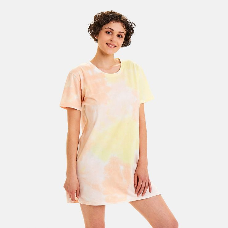 Big tee en coton bio imprimé tie & dye Woodstock