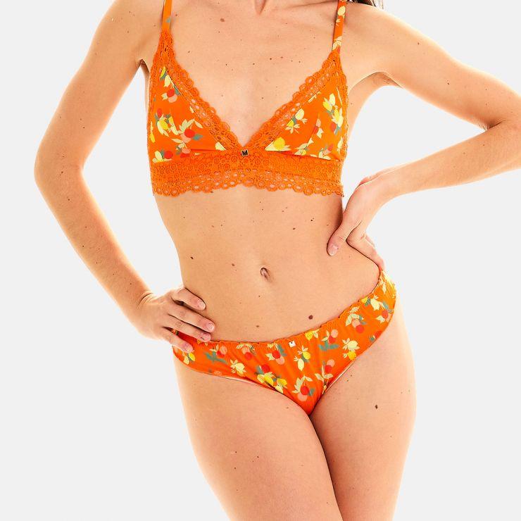 Culotte imprimé orange Nouméa