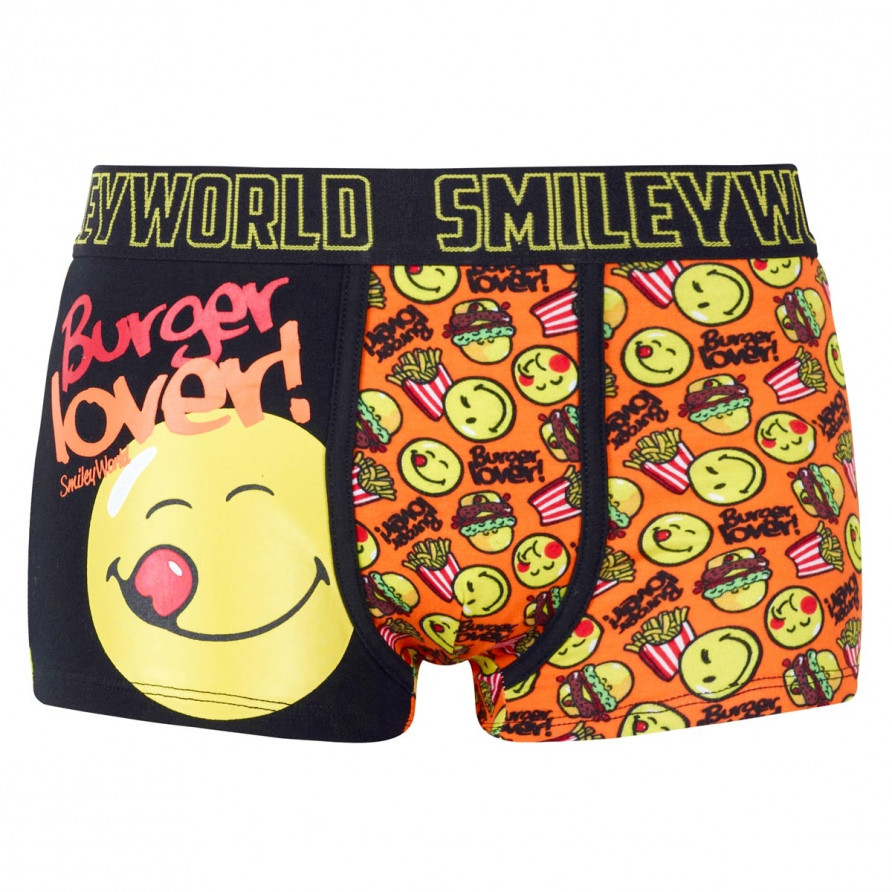 Boxer Boy imprimé Burger Lover by Smiley