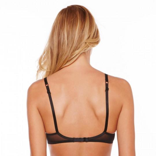 Soutien-gorge triangle sans armatures noir/or Dressing