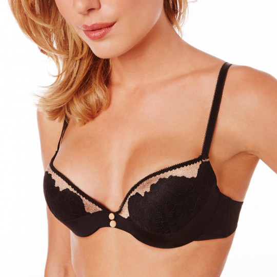 Soutien-gorge push-up noir/or Dressing