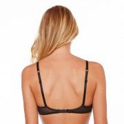 Soutien-gorge triangle sans armatures noir/bordeaux Dressing