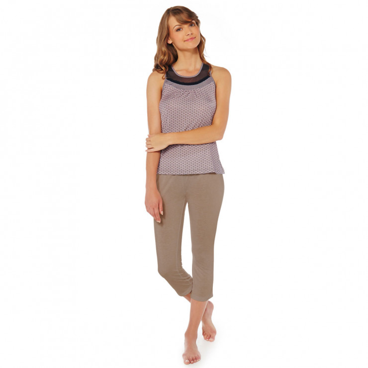 Pyjama taupe poudre charlie pommpoire - Couleur taupe poudre ...