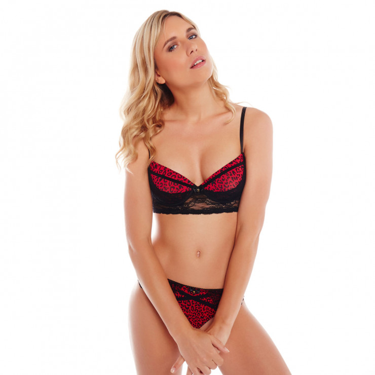 Bustier push-up noir/rouge Midnight