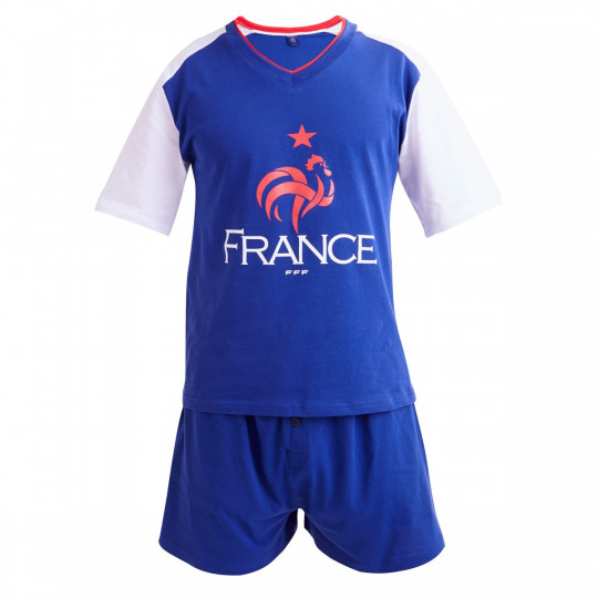 Pyjama court Equipe de France football - vue 1