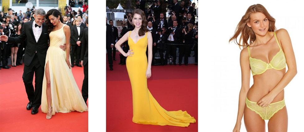 Amal-Clooney-Anna-Kendrick-Lingerie-jaune-citron