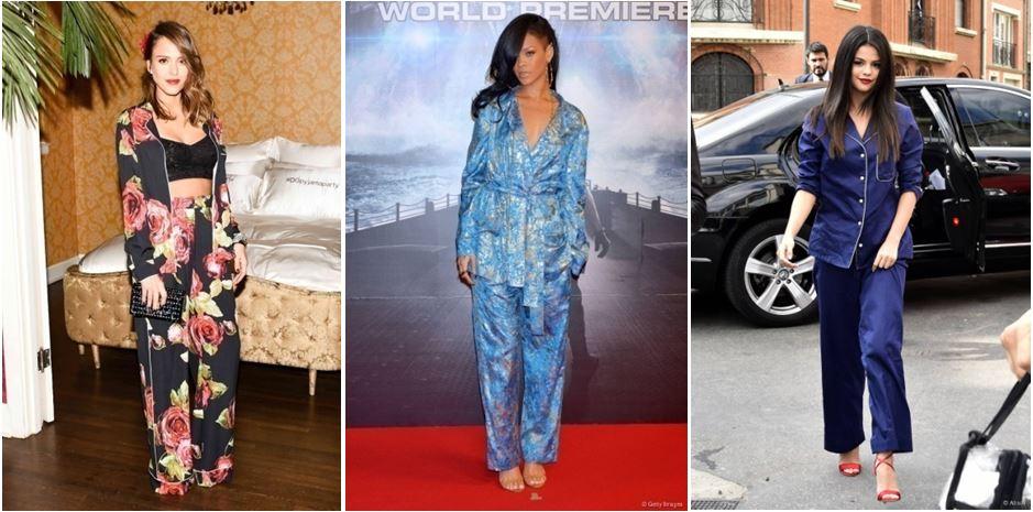 Jessica Alba, Rihanna et Selena Gomez adopte le total look pyjama