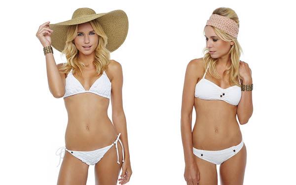 Maillots de bain bikini blanc BB JET SET MADRAGUE