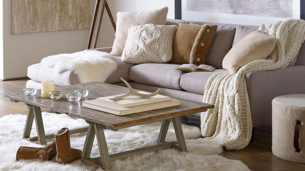 Salon cosy et cocooning