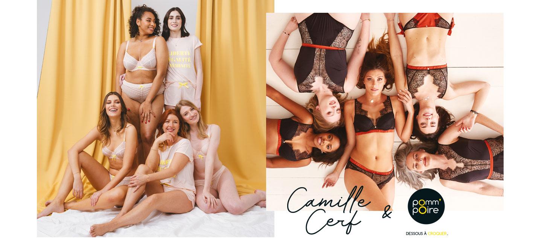 Lingerie - Collection capsule Camille Cerf & Pomm'Poire