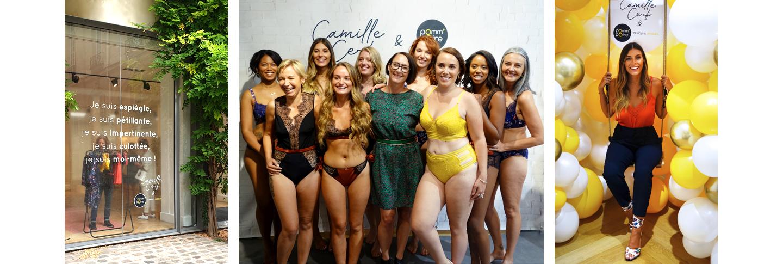 Défilié de la collection lingerie Camille Cerf & Pomm'Poire