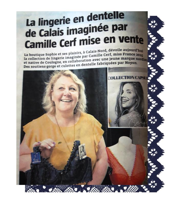 Boutique de lingerie Sophie et ses plaisirs à Calais