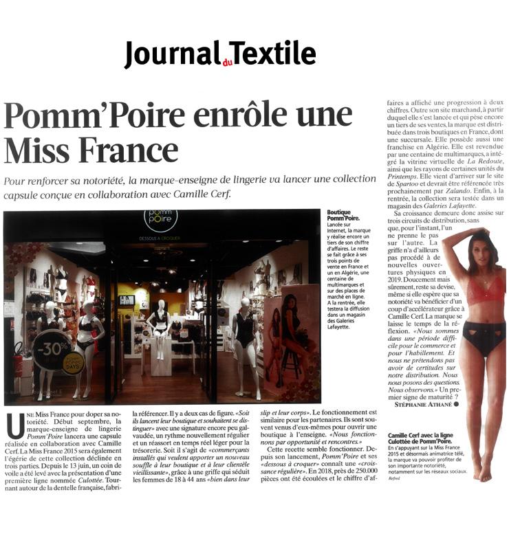 Revue de presse - Journal du textile