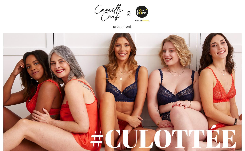 Lingerie - Gamme CULOTTÉE by Camille Cerf & Pomm'Poire