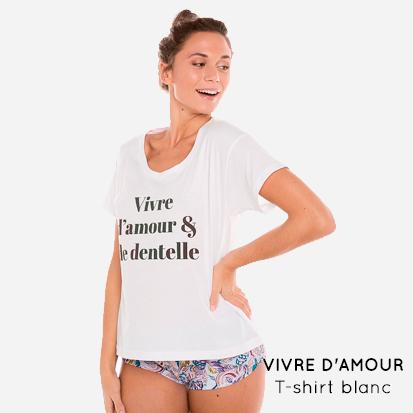 VIVRE D'AMOUR- t-shirt blanc