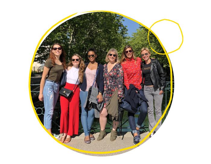 Les 5 gagnantes du casting #PommPommGirls et Camille Cerf à Annecy