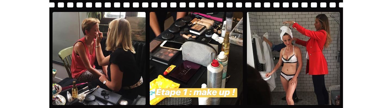 Backstage #POMMPOMMGIRLS - Make up et coiffure