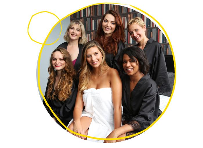 Les 5 gagnantes du casting #PommPommGirls et Camille Cerf