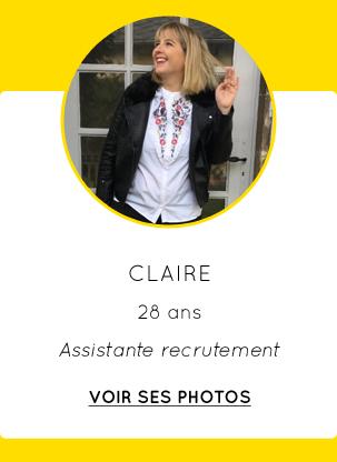 Claire - 28 ans - Assistante recrutement - VOIR SES PHOTOS